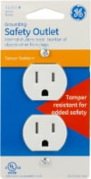 GE Grounding Safety Outlet - White