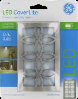 GE LED Floral Brushed Nickel CoverLite Night Light