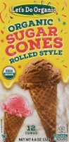 Let's Do Organic® Organic Rolled Style Sugar Cones - 4.6 oz