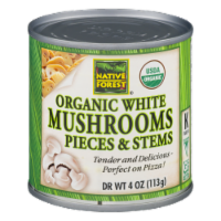 Native Forest Organic White Mushrooms Pieces And Stems - 4 OZ