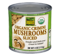 Native Forest Organic Sliced Crimini Mushrooms - 4 OZ