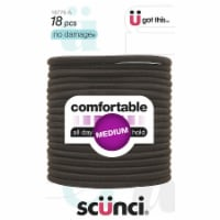 Scunci Large Brown Elastic Hair Bands