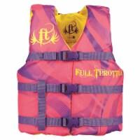 Full Throttle 104200-105-002-15 Full Throttle Youth Character Vest-Pink - 1