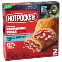 Hot Pockets Pepperoni Pizza Garlic Buttery Crust Sandwiches