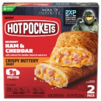 Hot Pockets Hickory Ham & Cheddar Crispy Buttery Crust Sandwiches