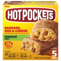 Hot Pockets Sausage Egg & Cheese Croissant Crust Frozen Sandwiches 5 Count