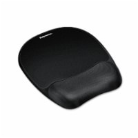 Fellowes Mouse Pad W/Wrist Rest, Nonskid Back, 7 15/16 X 9 1/4, Black 9176501 - 1