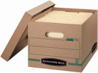 Fellowes Recycled Banker's Boxes - 4 Pack - Brown - 10 x 12 x 15 Inch
