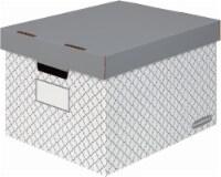 Fellowes Letter/Legal Bankers Box® - 3 pk - White/Gray