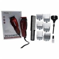 WAHL Professional Designer Professional Vibrator Clipper  Model # 8355400  Red 1 Pc