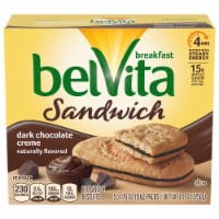 belVita Sandwich Dark Chocolate Creme Breakfast Biscuits 5 Count