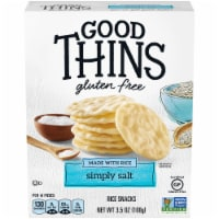 Good Thins Gluten Free Simply Salt Rice Snacks