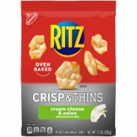 Ritz Crisp & Thins Cream Cheese & Onion Oven Baked Potato and Wheat Chips