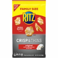 Ritz Crisp & Thins Original with Creamy Onion & Sea Salt Oven-Baked Chips Family Size