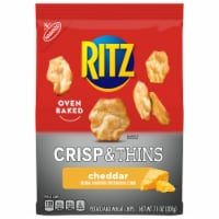 Ritz Crisp & Thins Cheddar Flavored Oven Baked Potato and Wheat Chips - 7.1 oz