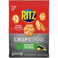 Ritz Crisp & Thins Jalapeno Cheddar Potato and Wheat Chips - 7.1 oz