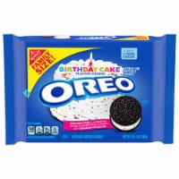 Oreo Birthday Cake Flavored Creme Chocolate Sandwich Cookies Family Size