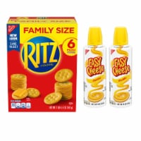 Ritz Family Size Crackers and Easy Cheese Cheddar Spray Cheese Pack - 1 ct