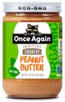Once Again Organic Salt Free Crunchy Peanut Butter