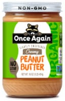 Once Again Organic Lightly Sweetened Creamy Peanut Butter