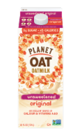 Planet Oat Unsweetened Original Oatmilk - 52 oz