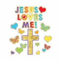 Jesus Loves Me! Bulletin Board Set, 30 Pieces