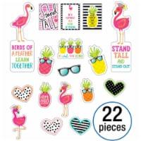 Simply Stylish Tropical Motivational Mini Bulletin Board Set, 22 Pieces - 1