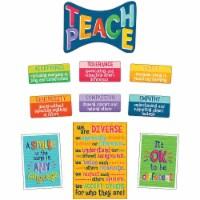 One World Teach Peace Bulletin Board Set, Grade 2-6, 11 Pieces - 1