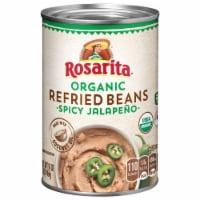 Rosarita Organic Spicy Jalapeno Refried Beans - 16 oz