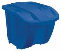 Suncast 18 Gallon Durable Stackable Resin Home Recycle Storage Bin w/ Lid, Blue - 1 Unit