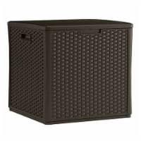 Suncast 27 in. W x 28 in. D Brown Plastic Deck Box - Case Of: 1; - Count of: 1
