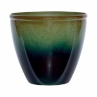 Suncast 7507296 14 x 16 x 16 in. Resin Modern Planter  Green & Blue