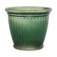 Suncast 7507262 16 x 18 in. Resin Planter, Green