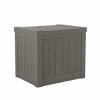 Suncast SS500ST 22 Gallon Small Resin Outdoor Patio Storage Deck Box, Stoney - 1 Unit