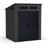 Suncast Modernist 6 x 5 Foot Outdoor Storage Shed, 200 Cubic Feet, Peppercorn
