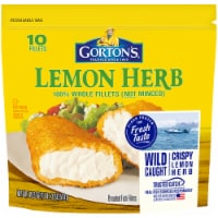 Gorton's Lemon Herb Whole Breaded Fish Fillets