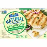 Gorton's Natural Catch Roasted Garlic & Herb Grilled Cod Fillets - 6.3 oz