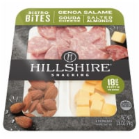 Hillshire Farm Snacking Bistro Bites Genoa Salame Gouda Cheese and Salted Almonds