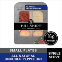 Hillshire Farm Snacking All Natural Uncured Pepperoni with Natural White Cheddar Cheese Small Plates