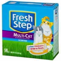 Fresh Step 02049 14 lb. Multi-Cat Scoopable Scented Cat Litter - 1