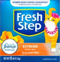 Fresh Step Extreme Hawaiian Aloha Scent Clumping Cat Litter with Febreze Freshness