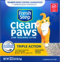 Fresh Step Clean Paws Triple Action Low Tracking Clumping Cat Litter