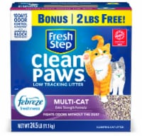 Fresh Step® Clean Paws™ Multi-Cat Febreze Scented Clumping Cat Litter