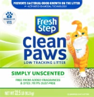 Fresh Step Clean Paws Unscented Multi-Cat Clumping Cat Litter