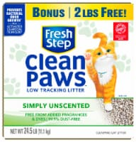 Fresh Step® Clean Paws™ Multi-Cat Unscented Clumping Cat Litter