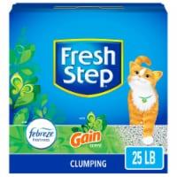 Fresh Step Gain Scent Clumping Cat Litter with Febreze - 25 lb
