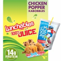 Lunchables with 100% Juice Chicken Popper Kabobbles