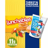 Lunchables Turkey & Cheddar Stacker Crackers with Capri Sun Fruit Punch Convenience Meal