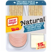 Oscar Mayer Natural Hickory Smoked Uncured Ham Monterey Jack Cheese & Whole Wheat Crackers