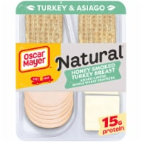 Oscar Mayer Natural Honey Smoked Turkey Breast Asiago Cheese & Whole Wheat Crackers